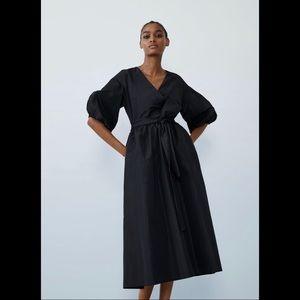 Zara Voluminous Midi Dress